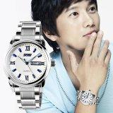 Beli Merek Watch A 9082 Pria Orisinalitas Matahari Bulan Kerangka Berkualitas Tali Kulit Bisnis Mekanis Otomatis Wrist Watch Online Tiongkok