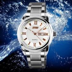 Skmei Merek Watch A 9082 Pria Orisinalitas Matahari Bulan Kerangka Berkualitas Tali Kulit Bisnis Mekanis Otomatis Wrist Watch Murah