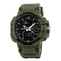 Harga Skmei Merek Watch 1040 Pria Kualitas Atas Selai Terkenal Fashion Dual Tampilan Waktu Otomatis Waterproof Tentara Olahraga Digital Jam Tangan Online Tiongkok