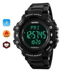 Dapatkan Segera Skmei Merek Watch 1180 Baru Hidup Olahraga Jam Tangan Pria Pedometer Heart Rate Monitor Kalori Counter Kebugaran Digital Watch Kolam Merek Jam Tangan Intl