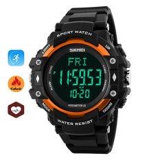 Promo Toko Skmei Merek Watch 1180 Laki Laki Hidup 3D Pedometer Heart Rate Monitor Kalori Counter Kebugaran Tracker Digital Tampilan Watch Kolam Olahraga Jam Tangan