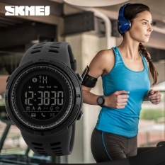 SKMEI  Merek Watch 1250 Fashion Jam Tangan Pedometer Kalori Digital Watch To Apple IOS Android Sistem Pria Wanita Tahan Air Olahraga Jam Tangan-Intl