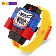 Promo Skmei Merek Watch Anak Led Digital Anak Menonton Kartun Olahraga Watches Relogio Robot Transformasi Mainan Baru Men Jam Tangan 1095 Intl