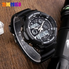 SKMEI Merek Watch Anak Olahraga Watches 50 M Tahan Air Fashion Kasual QUARTZ Digital Watch Boys