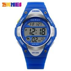 "SKMEI Merek Watch Anak Watches Alarm Stopwatch Tahan Air Renang LED Digital Watch Bandung Photo: ""gadis Mahasiswa Jam Tangan 1077- INTL"