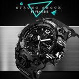 Iklan Skmei Merek Watch Big Dial Pria Digital Jam Tangan Olahraga Dual Display Militer Watch 50 M Tahan Air Tanggal Kalender Dipimpin Pengganti Jam Tangan 1155 B