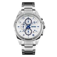Spesifikasi Skmei Merek Watch China Men Watches Fashion Quartz Dials Jam Tangan 50 M Waterproof Alloy Relogio Masculino 9109 Intl Merk Skmei