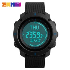 Ongkos Kirim Skmei Merek Watch Kompas Countdown Multifungsi Digital Watch Waterproof Outdoor Sports Pria Alarm Led Jam Tangan 1216 Skmei Di Tiongkok
