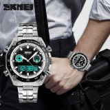 Beli Skmei Merek Watch Olahraga Watches Pria Fashion 30 M Tahan Air Led Elektronik Luxury Watch Shock Stainless Steel Dual Layar Jam Tangan 1204 Intl Cicilan