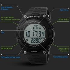 SKMEI  Merek Watch Pria Digital Outdoor Sport Alat Pengukur Langkah Chronograph Tahan Air Jam Tangan 1112-Intl