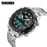 Ulasan Tentang Skmei Merek Watch Pria Digital Wristwatch Fashion Sport Electronic Quartz Jam Tangan Pria Stainless Steel Dual Layar Jam Tangan Relogi 1204 Intl