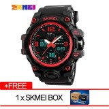 Skmei Merek Watch Pria Mewah Analog Quartz Digital Led Elektronik Jam Tangan 1155B Intl Original
