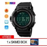Spesifikasi Skmei Merek Watch Pria Olahraga Pedometer Kalori Digital Chronograph Chronograph 50 M Tahan Air Bluetooth Jam Tangan 1245 Bagus
