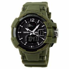 SKMEI Military Men Sport LED Watch Water Resistant 50m AD1040 Jam Tangan Sport G-Shock - Army Green