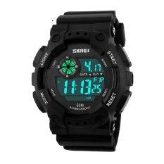 Ulasan Lengkap Tentang Skmei Military Sport Watch Water Resistant 50 Meter Jam Tangan Sport Day Date Hitam