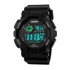 Jual Cepat Skmei Military Sport Watch Water Resistant 50M Dg1101 Hitam Putih