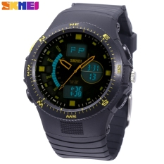 Beli Barang Skmei Movt Ganda Olahraga Perhiasan Pria Tanggal Hari Alarm Lampu Latar Tampilan Stopwatch 5Atm Jam Tangan Kuning Online