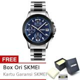 Review Terbaik Skmei New Magnetto Biru Jam Tangan Pria Rantai Stainless Steel 9126 Formal Blue Free Box Ori Skmei