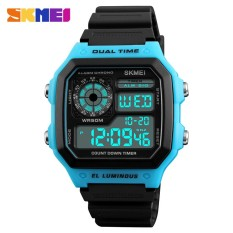 Review Toko Skmei Outdoor Waterproof Sport Men Watch Alarm Date Led Display Watches Count Down Chronograph Men S Digital Wristwatches Military Style 1299 Intl
