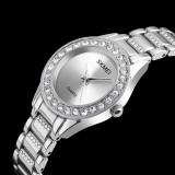 Beli Skmei Paduan New Quartz Perhiasan Wanita Rhinestones Wanita Wrist Watches Tahan Air Rose Gold Jam Tangan Wanita Jam Relogio Feminino1262 Intl Kredit Tiongkok