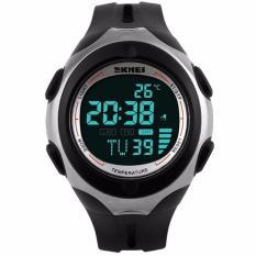 Harga Skmei Pioneer Sport Watch Water Resistant 50M Dg1080T Jam Tangan Pria Digital Tali Silicone Anti Air Tanggal Bulan Tahun Stopwatch Alarm Hitam Asli Skmei