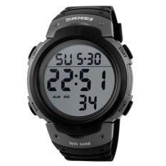 Toko Skmei Pioneer Sport Watch Water Resistant 50M Jam Tangan Sporty Pria Strap Silicon Dg1068 Hitam Kualitas Original Garansi 1 Bulan Yang Bisa Kredit