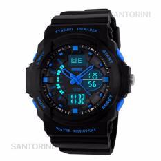 SKMEI Pria Jam Tangan Skmei Olahraga Militer Tahan Air Analog Digital LED Multifungsi Waterproof Sports Men Watch - BLUE