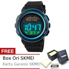 SKMEI Radiant Hitam Biru - Jam Tangan Wanita - Strap Karet - 1096 Sport Black Blue + Free BOX ORI SKMEI