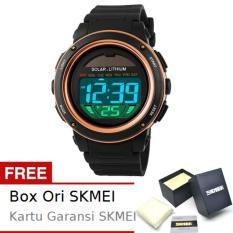 SKMEI Radiant Hitam Emas - Jam Tangan Pria - Strap Karet - 1096 Sport Black Gold + Free BOX ORI SKMEI