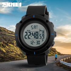 Jual Skmei Ready Stock Merek Pria Pedometer Sport Watch 50 M Tahan Air Led Digital Watches Chrono Kalori Alarm Outdoor Militer Jam Tangan 1215 S Sport Murah