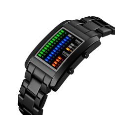 Spesifikasi Skmei Rectangle Digital Watch Pria Elektronik Led Tahan Air Digital Arloji Fantastic Solid Unisex Watch Dengan Kalender Intl Paling Bagus