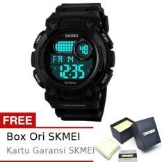 SKMEI Robo Hitam - Jam Tangan Pria - Strap Karet - 1054 Sport Black + Free BOX ORI SKMEI