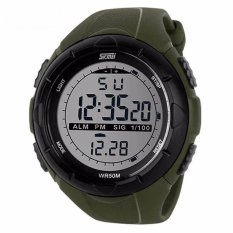 Review Toko Skmei S Shock Digital Sport Watch Dg1025 Water Resistant Anti Air Wr 50M Jam Tangan Unisex Tali Strap Rubber Karet Wrist Watch Wristwatch Fashion Casual Design K053 Hijau Army