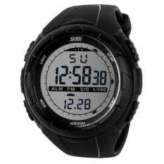 Jual Skmei S Shock Digital Sport Watch Water Resistant 50M Jam Tangan Unisex Tali Rubber Karet Dg1025 Outdoor Fashion Casual Design Wristwatch K053 Hitam Skmei Asli