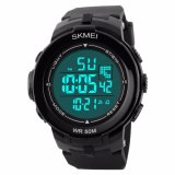 Review Toko Skmei S Shock Sport Digital Men Watch Water Resistant 50M Dg1127 Hitam Putih Online