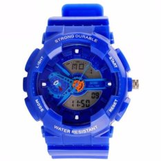 Jual Skmei S Shock Sport Men Led Anti Air Water Resistant Wr 50M Ad0929 Jam Tangan Pria Tali Strap Karet Day Date Digital Alarm Wristwatch Wrist Watch Fashion Accessories Stylish Trendy Model Baru Sporty Design Biru Lengkap