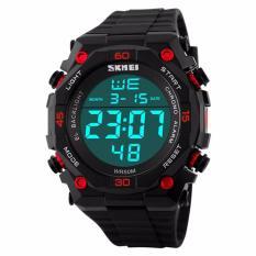 Toko Jual Skmei S Shock Sport Watch Anti Air Water Resistant Wr 50M Dg1130 Jam Tangan Pria Army Digital Wristwatch Wrist Watch Fashion Trendy New Design Hitam Merah