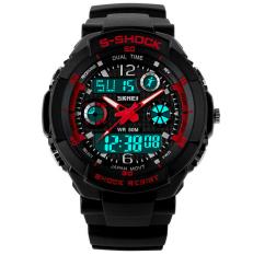 Beli Skmei S Shock Olahraga Tahan Air Led Digital Watch Merah Baru