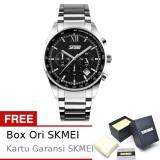 Review Skmei Seize Hitam Jam Tangan Pria Rantai Stainless Steel 9096 Formal Black Free Box Ori Skmei