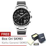 Review Skmei Seize Hitam Jam Tangan Pria Rantai Stainless Steel 9096 Formal Black Free Box Ori Skmei Di Jawa Tengah