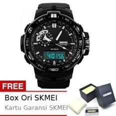 SKMEI Shelter Hitam - Jam Tangan Pria - Strap Karet - 1081 Sport Black + Free BOX ORI SKMEI