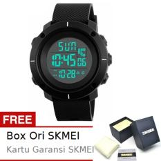 SKMEI Shield Hitam - Jam Tangan Pria  - Tali Karet - Shield 1213 Black Edition + Free BOX ORI SKMEI