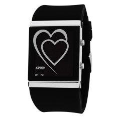 Toko Skmei Silicon Wristband Led Watch Water Resistant 30M Jam Led Gelang 1004A Black Skmei Di Indonesia