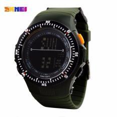 Beli Skmei Sniper Hijau Jam Tangan Pria Strap Karet 0989 Sport Green Free Box Jam Tangan Flash Dengan Kartu Kredit