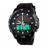 Skmei Solar Power Led Sport Watch Water Resistant 50M Hitam Original