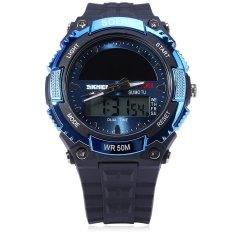 Skmei Tenaga Surya Pria Tali Karet Biru Led Watch 1049 Intl Tc Terbaru