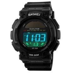 SKMEI Solar WATCH Pria Sport Jam Tangan Waterproof Automatic Militer Watch Fashion Datejust Top Kualitas Digital Army Jam (Hitam) -Intl