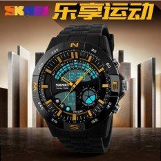 Jual Skmei Speedometer Dual Time Anti Air Man Digital Watch Jam Tangan Pria Gold Branded