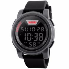 Review Skmei Sport Men Led Watch Anti Air Water Resistant Wr 50M Dg1218 Jam Tangan Pria Tali Strap Karet Digital Alarm Wristwatch Wrist Watch Fashion Accessories Stylish Trendy Model Baru Sporty Design Abu