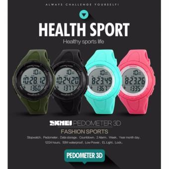 Promo SKMEI Sport Pedometer Digital Running Watch DG1108S Water Resistant Anti Air WR 50m Jam Tangan